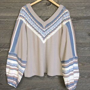 "FREE PEOPLE ""Copenhagen Swit"" Sweater NWT"